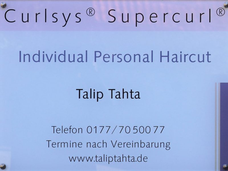 Individual Personal Haircut - Schild